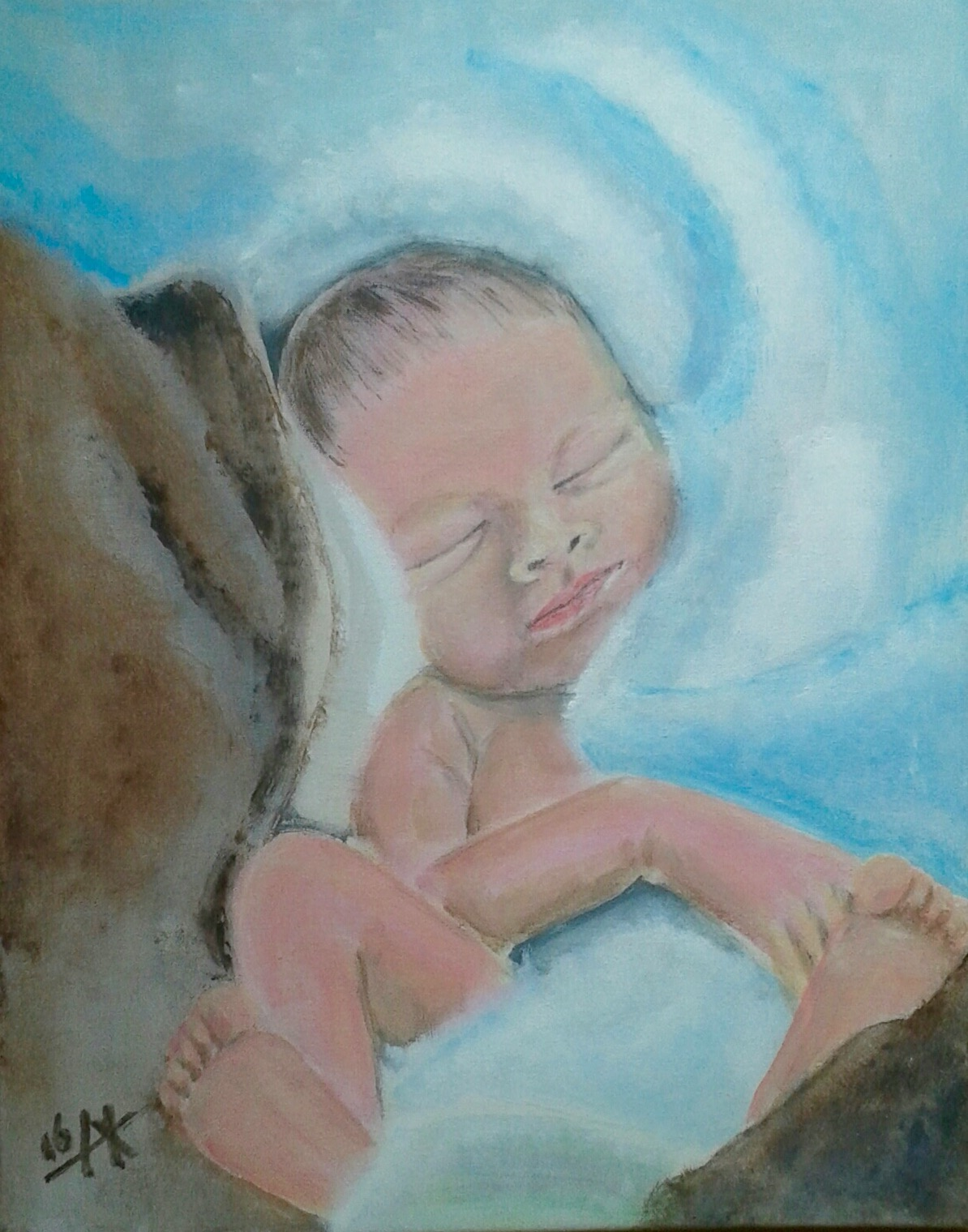 Een wolk van een baby.